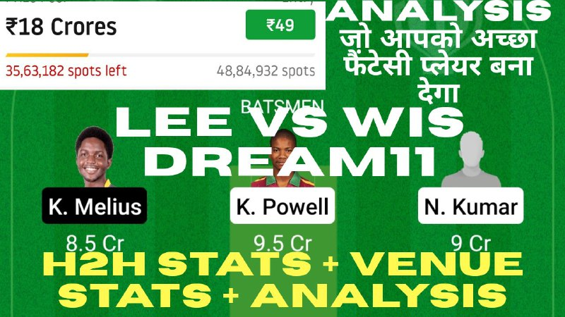 Picture 1 from CricInformer (Tips and Teams of Dream11) 2021-02-07 14:18:00