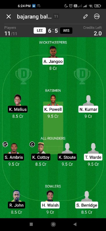 Picture 1 from CricInformer (Tips and Teams of Dream11) 2021-02-07 15:54:39