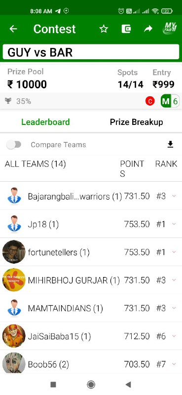 Picture 5 from CricInformer (Tips and Teams of Dream11) 2021-02-09 05:43:44